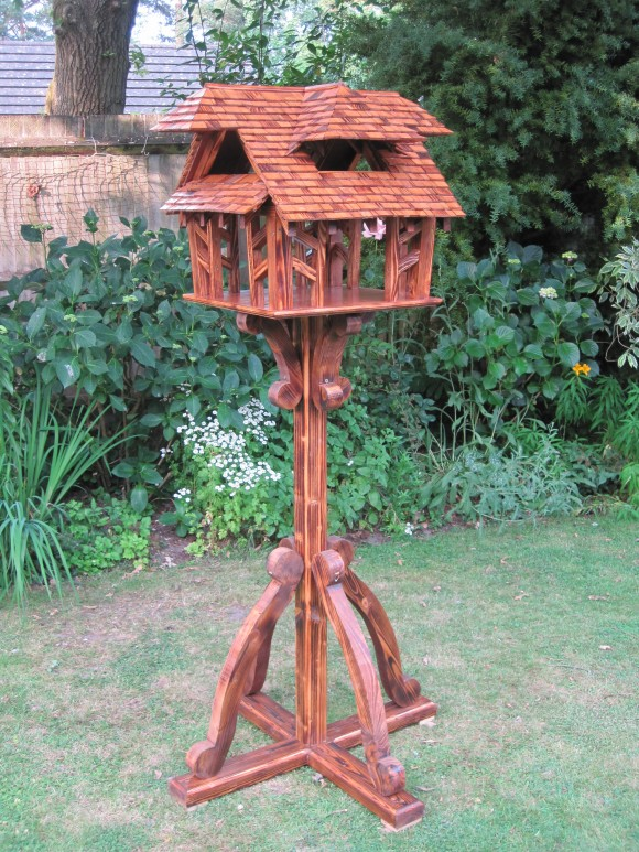Cropped hip, two storey bespoke bird table by Rob Rendall