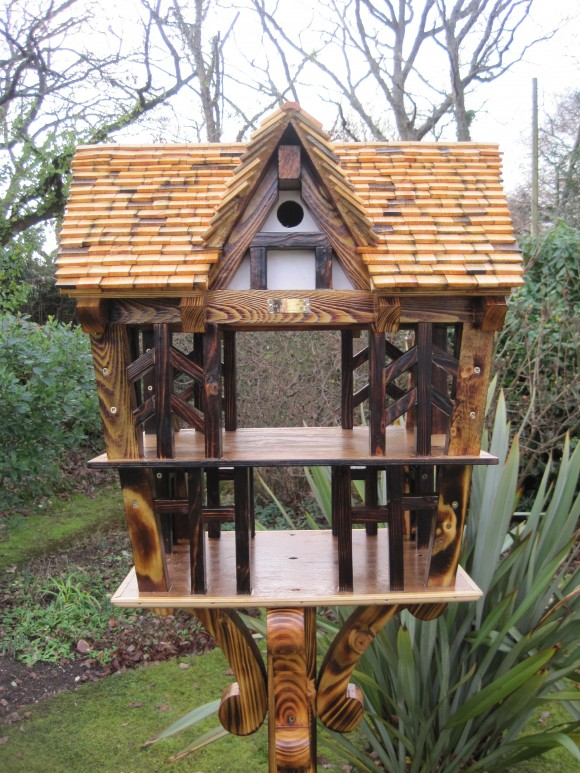 Tudor House two storey bird table with nesting box by Rob Rendall