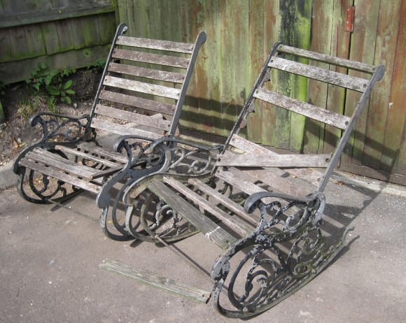 Refurbished rocking chair before image by Rob Rendall