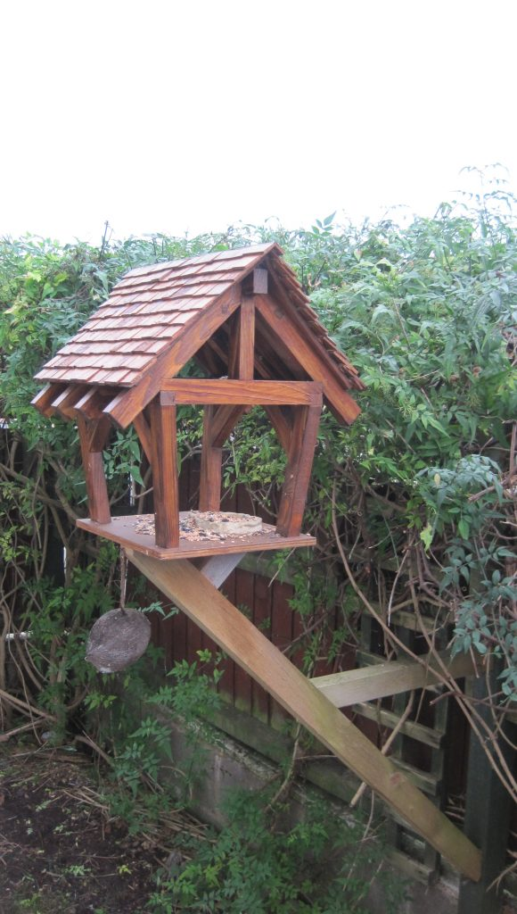 Basic bespoke bird table by Rob Rendall