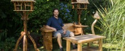 Bespoke bird tables, memorial bench and other carvings by Rob Rendall